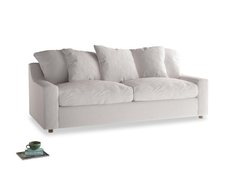 Large Cloud Sofa in Winter White Clever Velvet