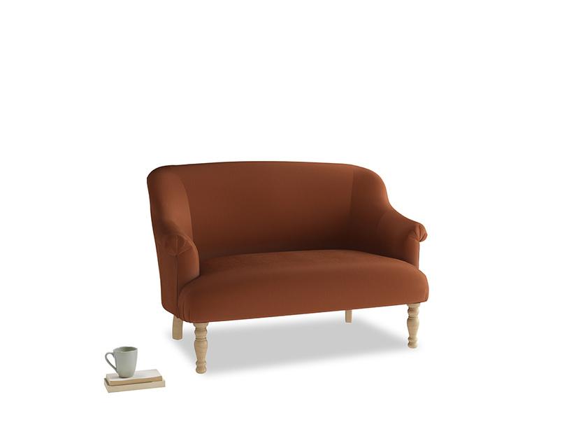 Small Sweetie Sofa in Praline Plush Velvet