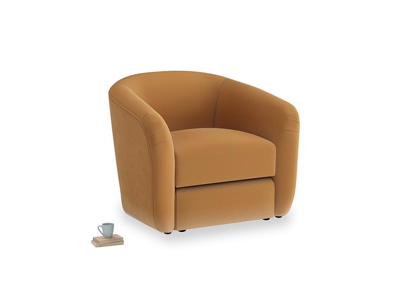 Tootsie Armchair in Caramel Plush Velvet