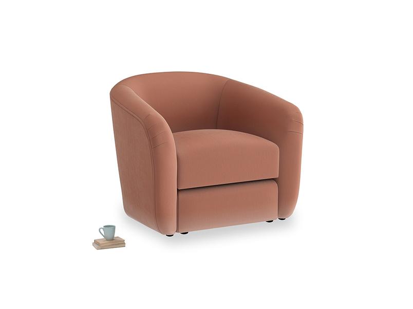 Tootsie Armchair in Pinky Peanut Plush Velvet