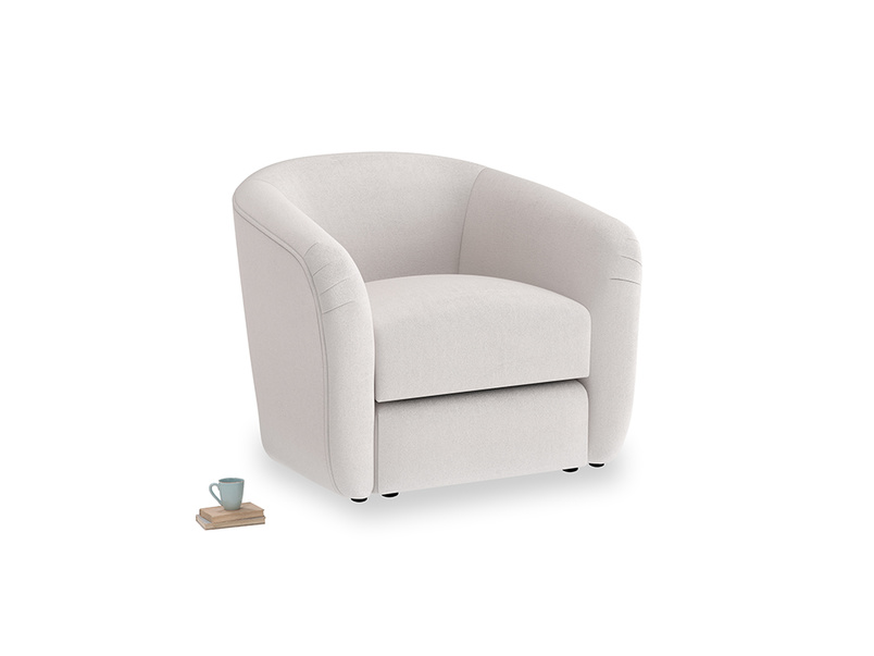 Tootsie Armchair in Winter White Clever Velvet
