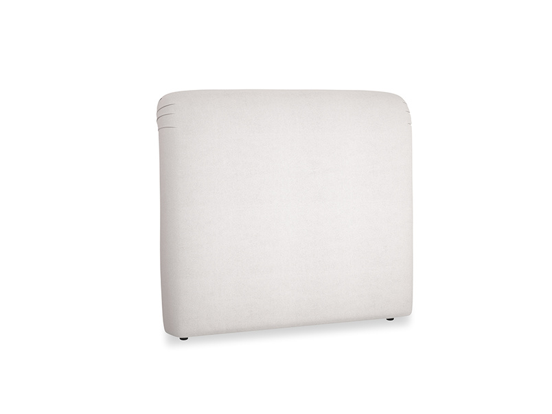 Double Cookie Headboard in Winter White Clever Velvet