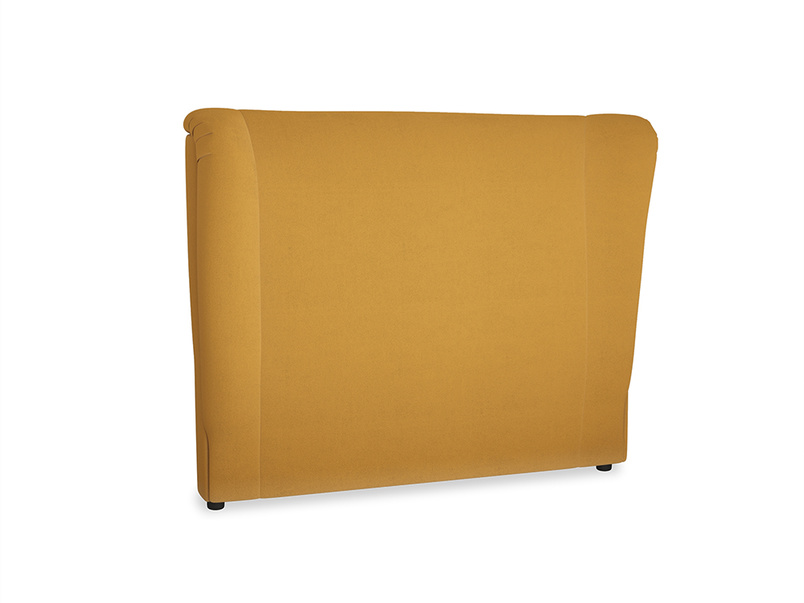 Double Hugger Headboard in Burnished Yellow Clever Velvet