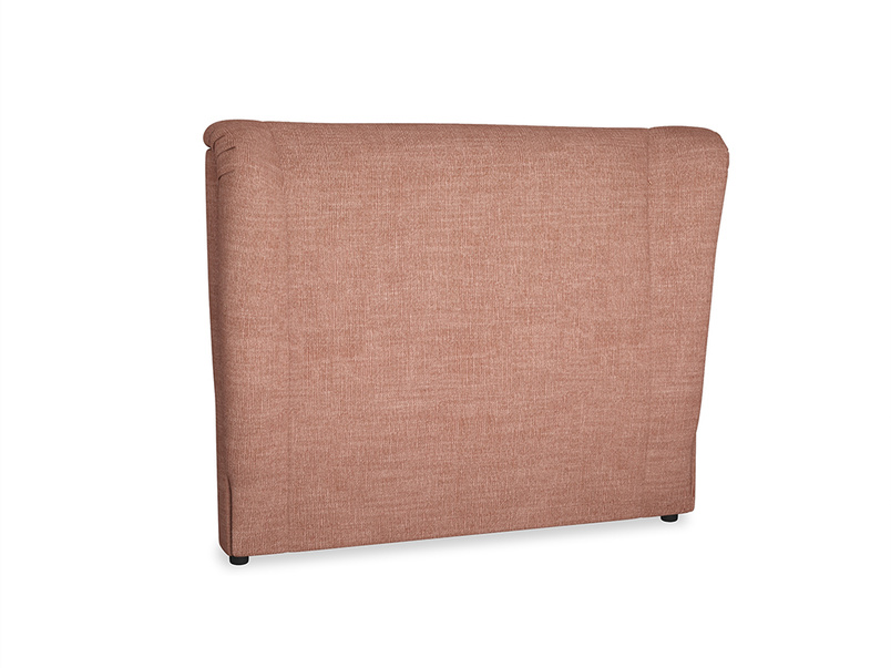 Double Hugger Headboard in Dried Rose Clever Laundered Linen