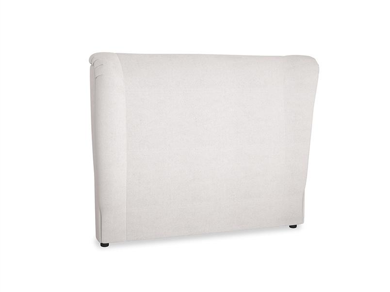 Double Hugger Headboard in Winter White Clever Velvet