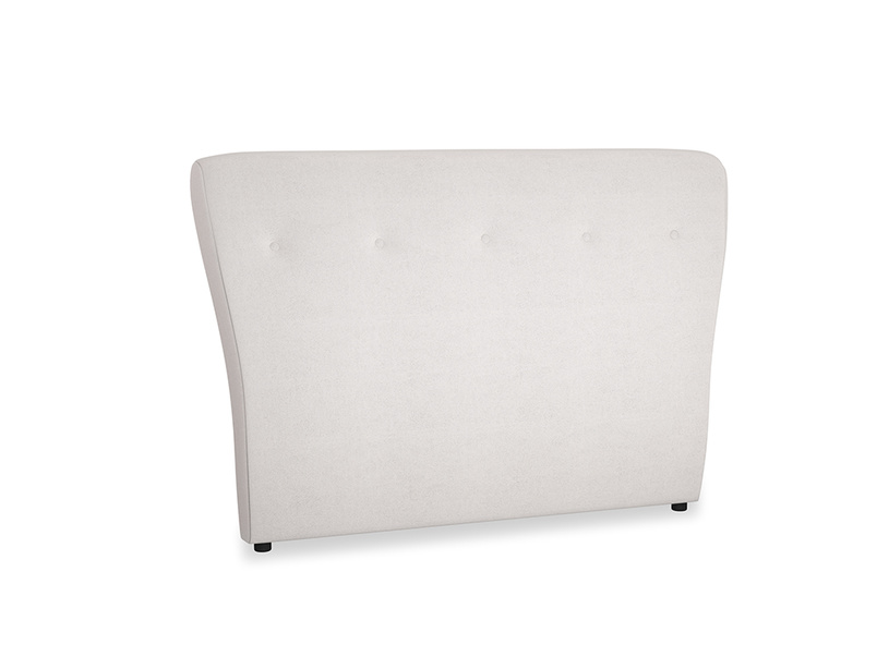 Double Smoke Headboard in Winter White Clever Velvet