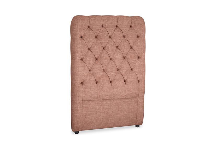 Single Tall Billow Headboard in Dried Rose Clever Laundered Linen