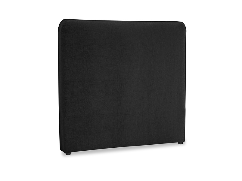 Double Ruffle Headboard in Blackboard Vintage Velvet