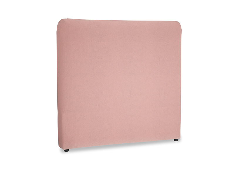 Double Ruffle Headboard in Vintage Pink Clever Velvet