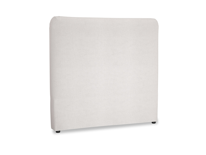 Double Ruffle Headboard in Winter White Clever Velvet