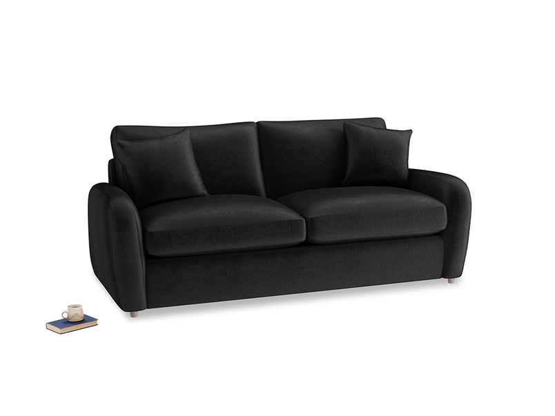 Medium Easy Squeeze Sofa Bed in Blackboard Vintage Velvet