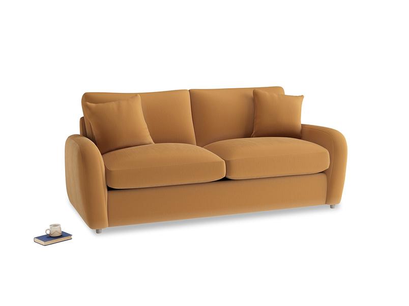 Medium Easy Squeeze Sofa Bed in Caramel Plush Velvet