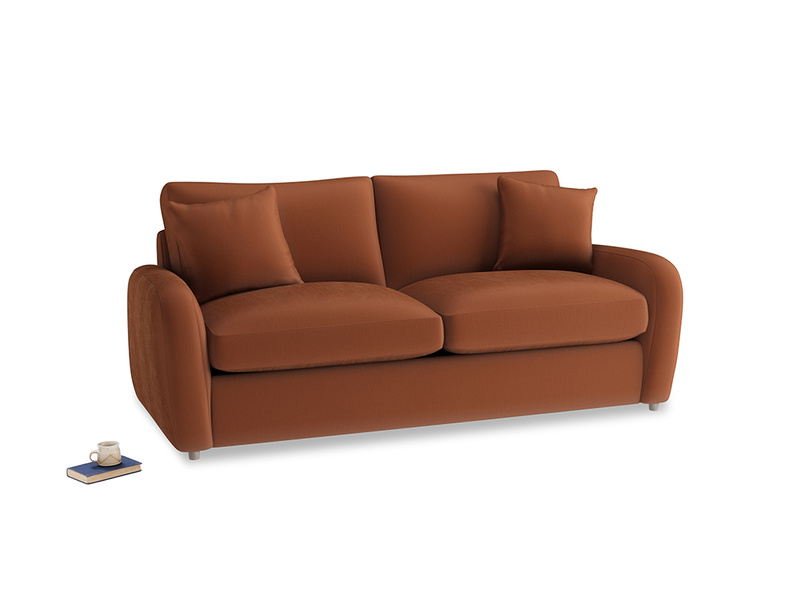 Medium Easy Squeeze Sofa Bed in Praline Plush Velvet