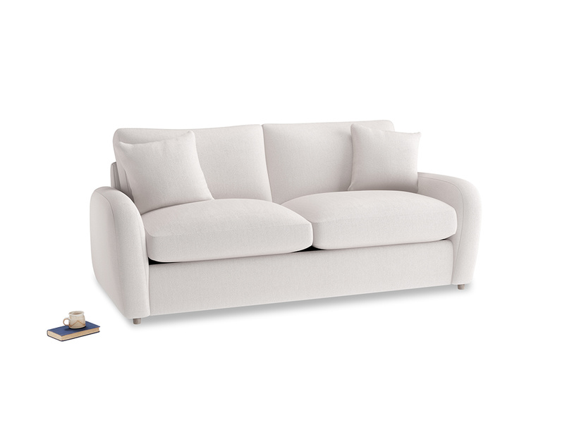 Medium Easy Squeeze Sofa Bed in Winter White Clever Velvet