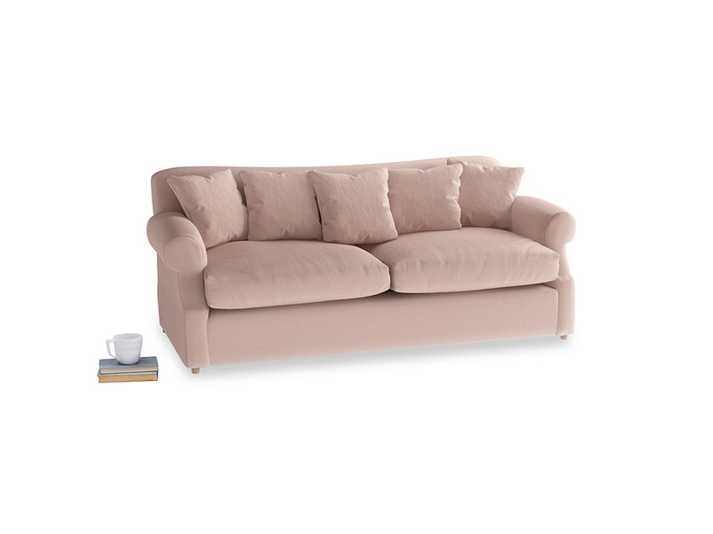 Large Crumpet Sofa Bed in Dried Plaster Clever Velvet