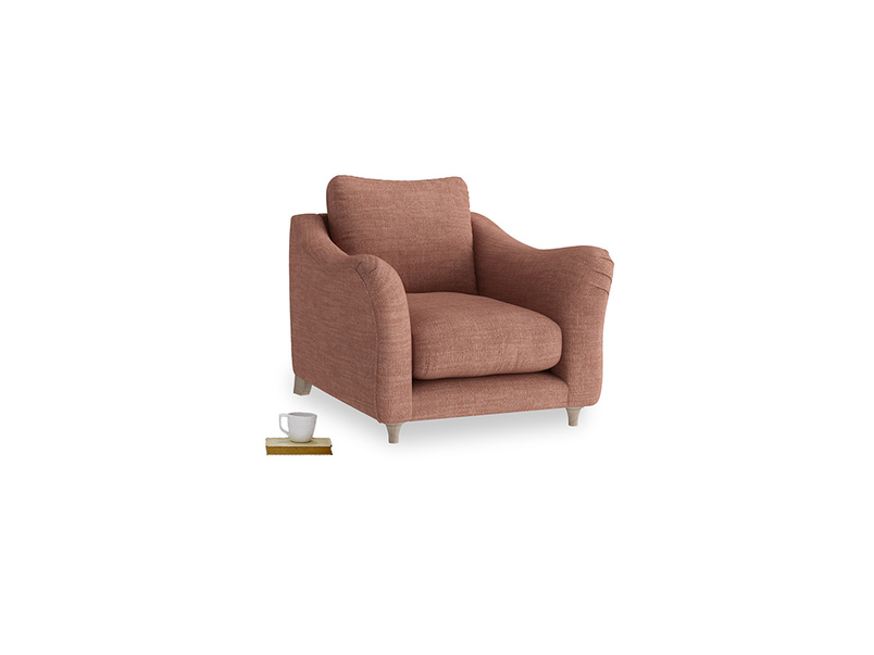 Bumpster Armchair in Dried Rose Clever Laundered Linen