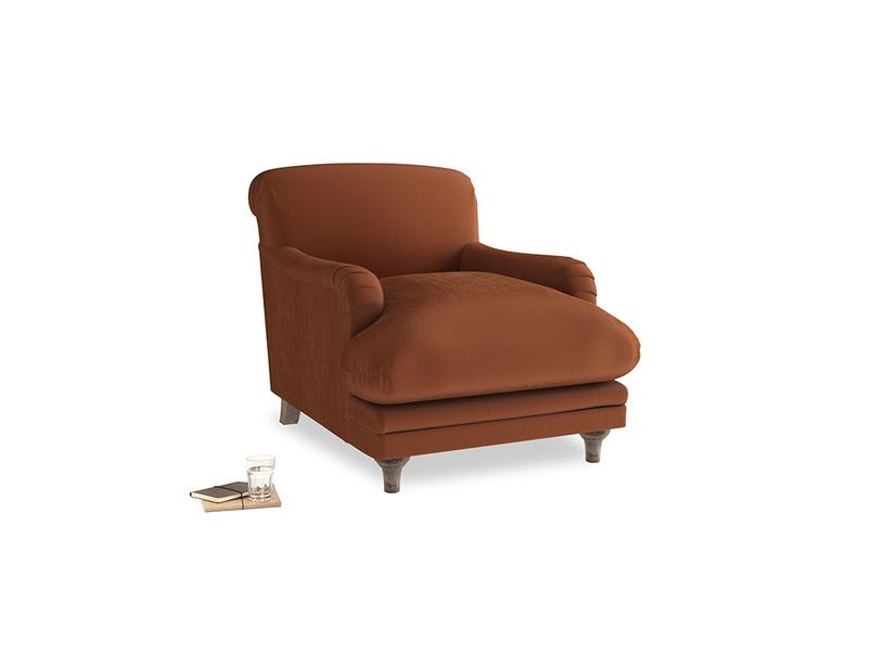 Pudding Armchair in Praline Plush Velvet
