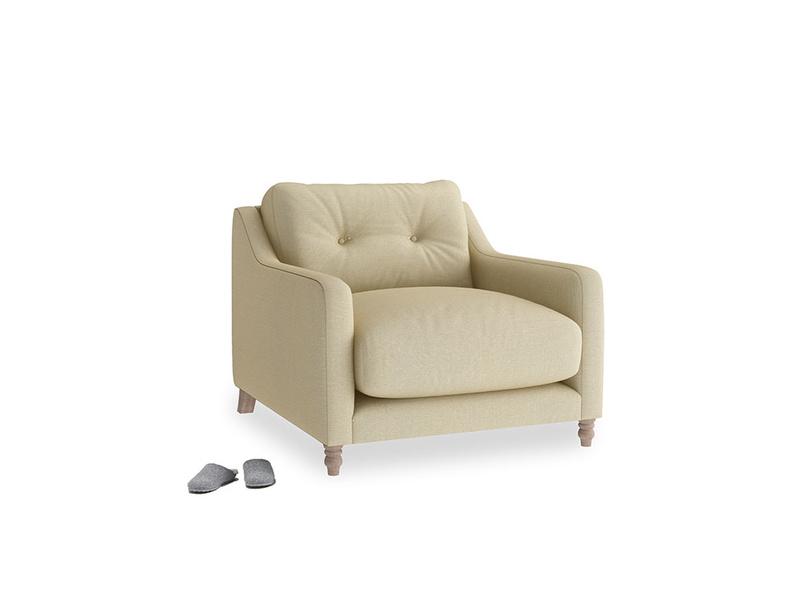 Slim Jim Armchair in Parchment Clever Linen