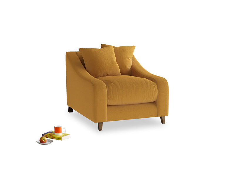 Oscar Armchair in Burnished Yellow Clever Velvet
