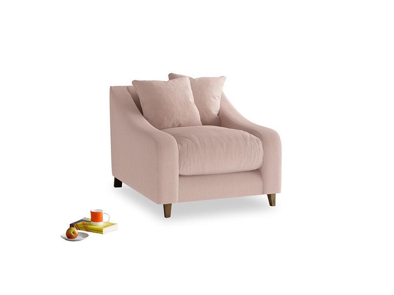 Oscar Armchair in Dried Plaster Clever Velvet