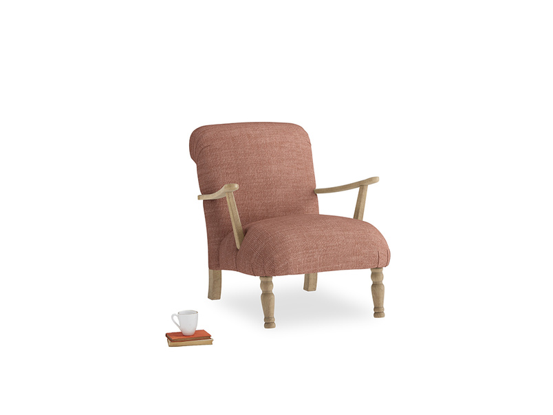 Brew Armchair in Dried Rose Clever Laundered Linen