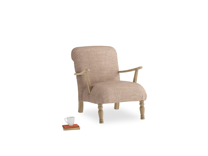 Brew Armchair in Old Plaster Clever Laundered Linen
