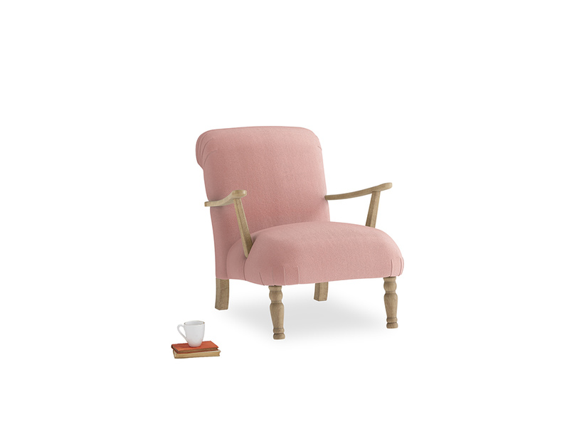 Brew Armchair in Vintage Pink Clever Velvet