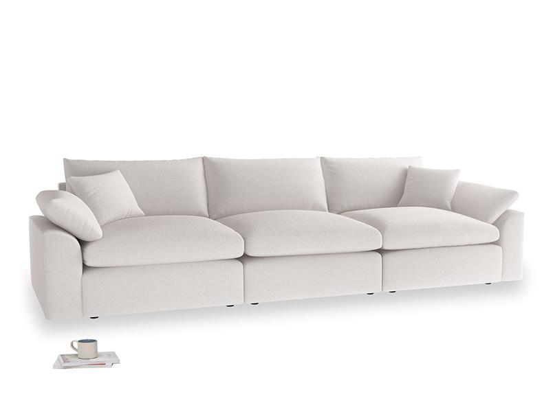 Large Cuddlemuffin Modular sofa in Winter White Clever Velvet