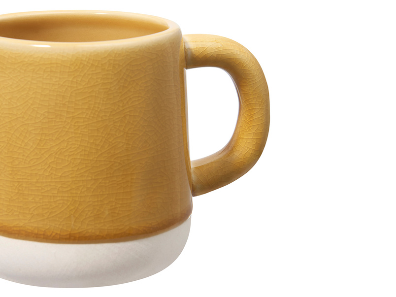 Muggins Coffee Mug in Burnt Custard yellow