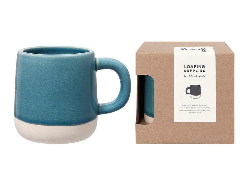 Muggins coffee Mug in Tea Towel Teal