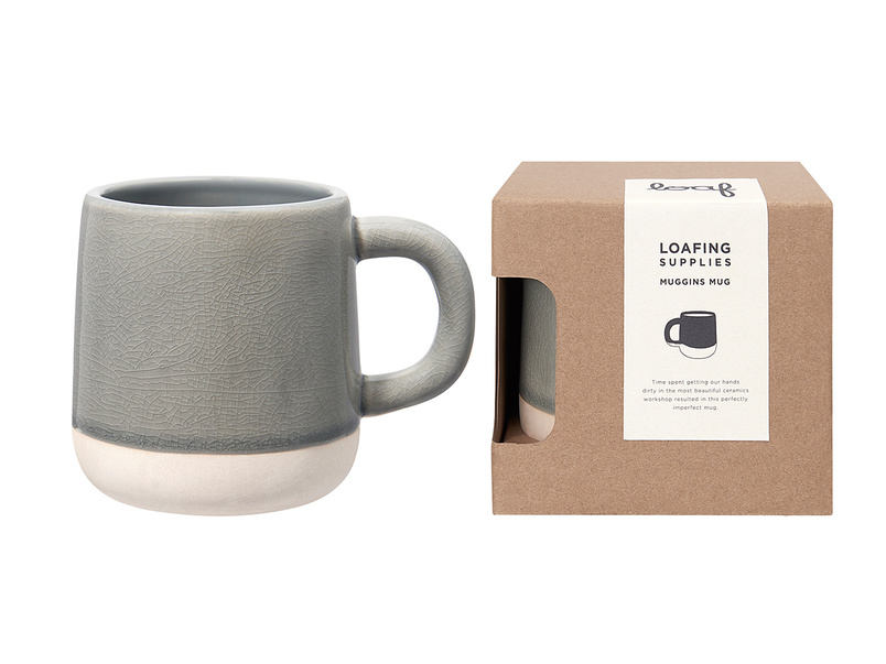Muggins Mug in Baking Tin Grey