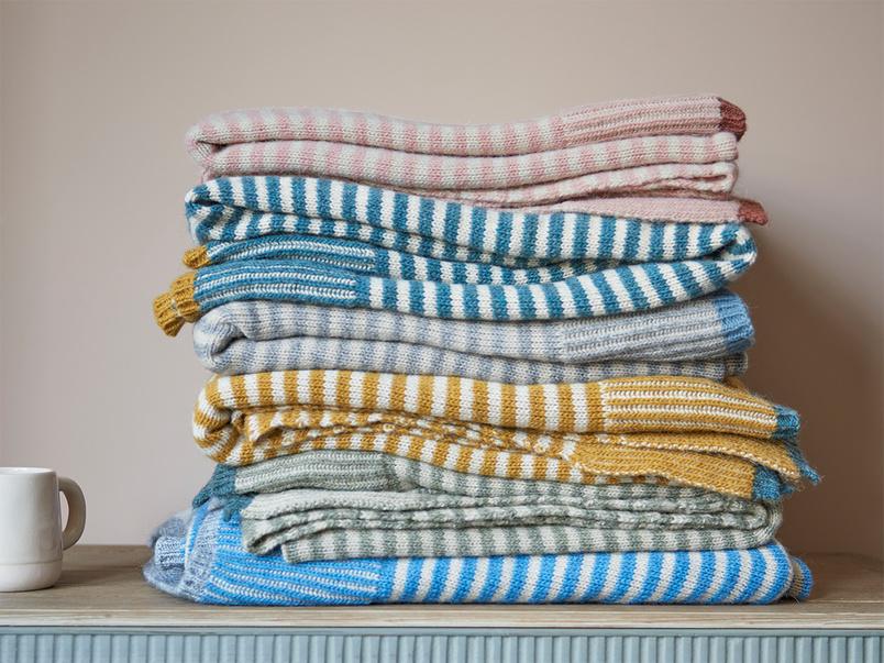 Easy Knit Throw blanket in Grey