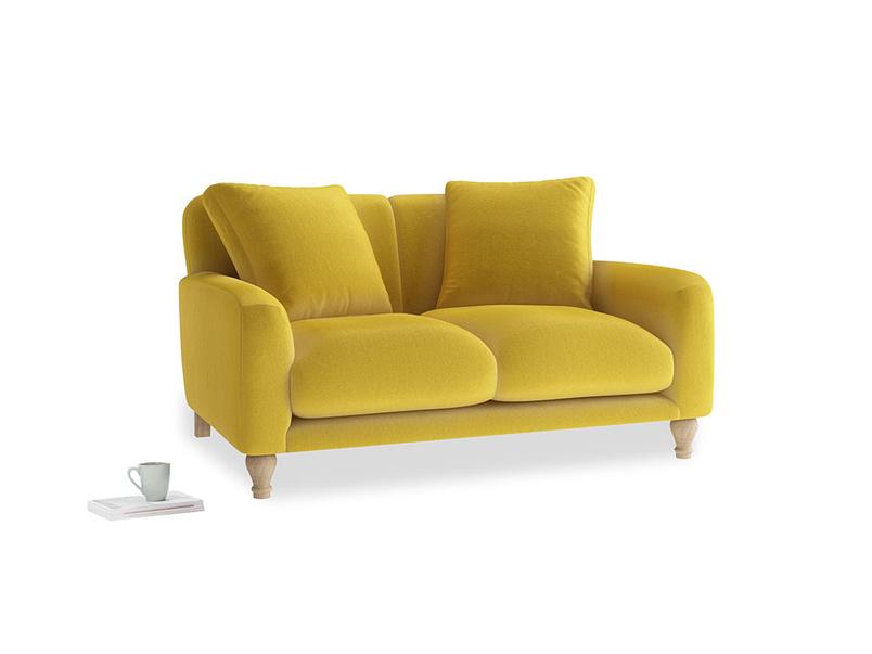 Small Bear Hug Sofa in Bumblebee clever velvet