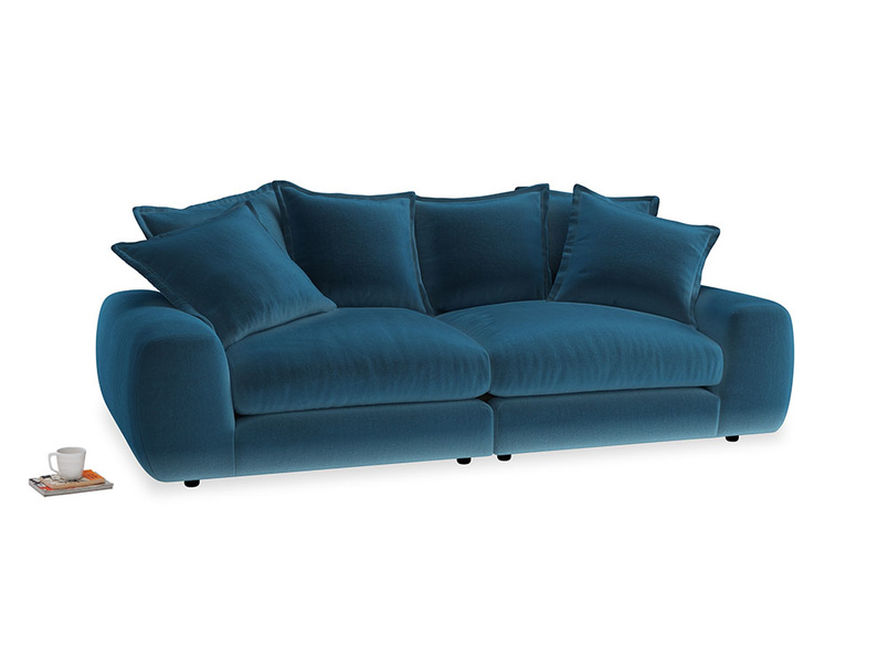Medium Wodge Modular Sofa in Twilight blue Clever Deep Velvet