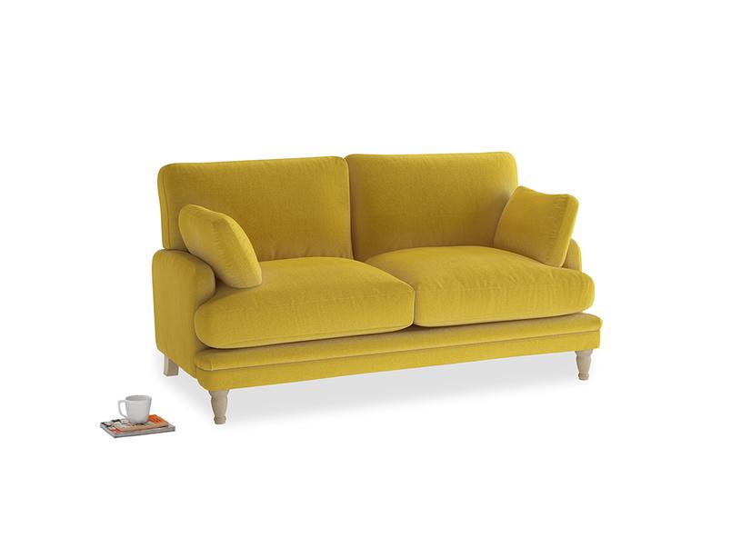Small Squisharoo Sofa in Bumblebee clever velvet