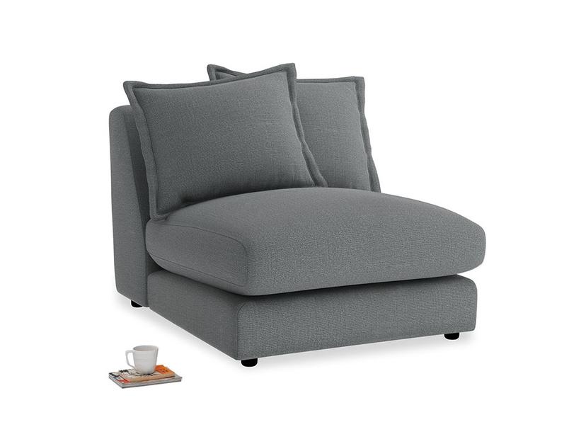 Wodge Single Seat in Cornish Grey Bamboo Softie