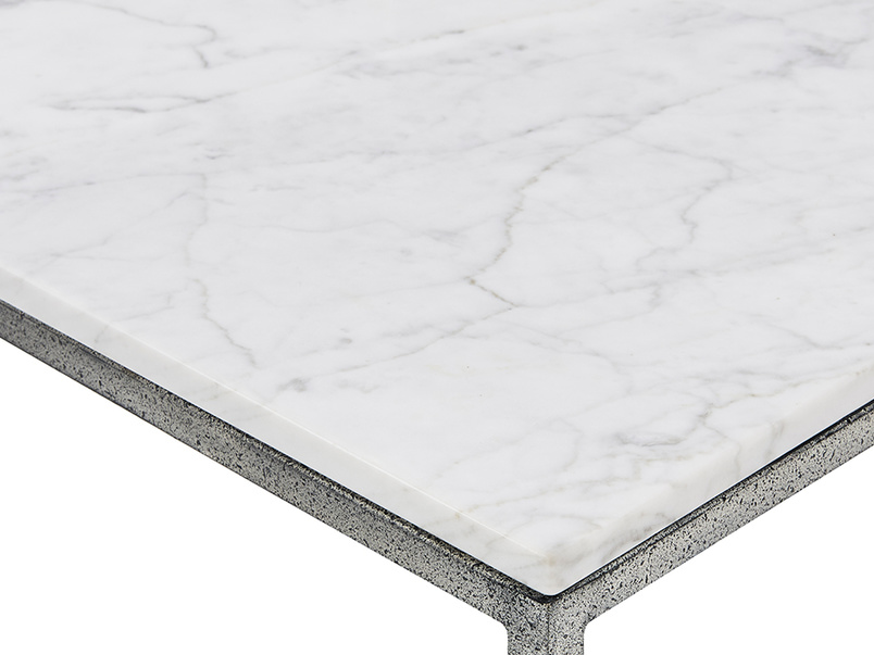 Dusty nesting marble side tables