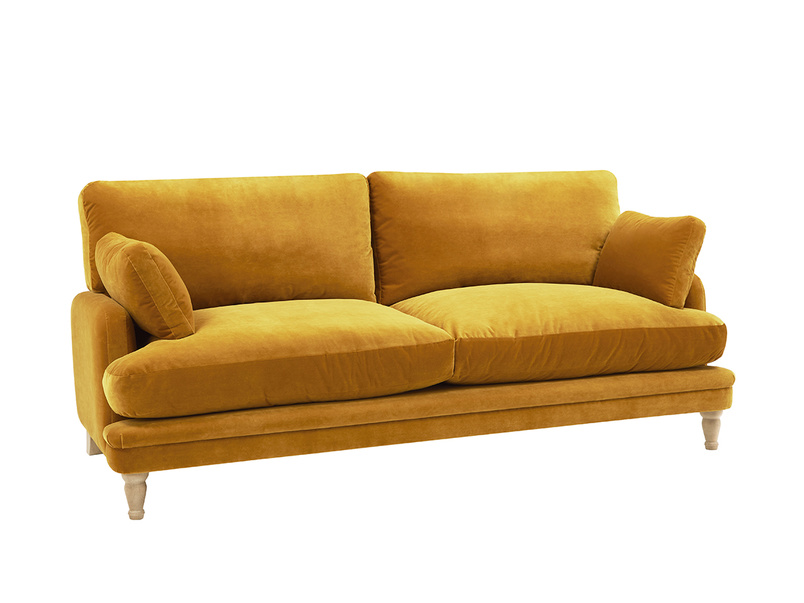 Squisharoo sofa in Burnished yellow clever velvet