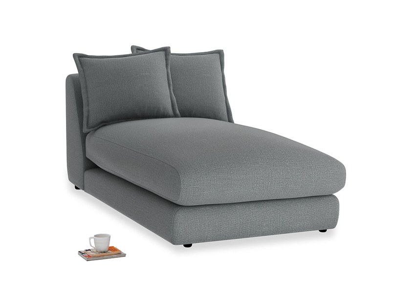 Wodge Single Chaise Seat in Cornish Grey Bamboo Softie