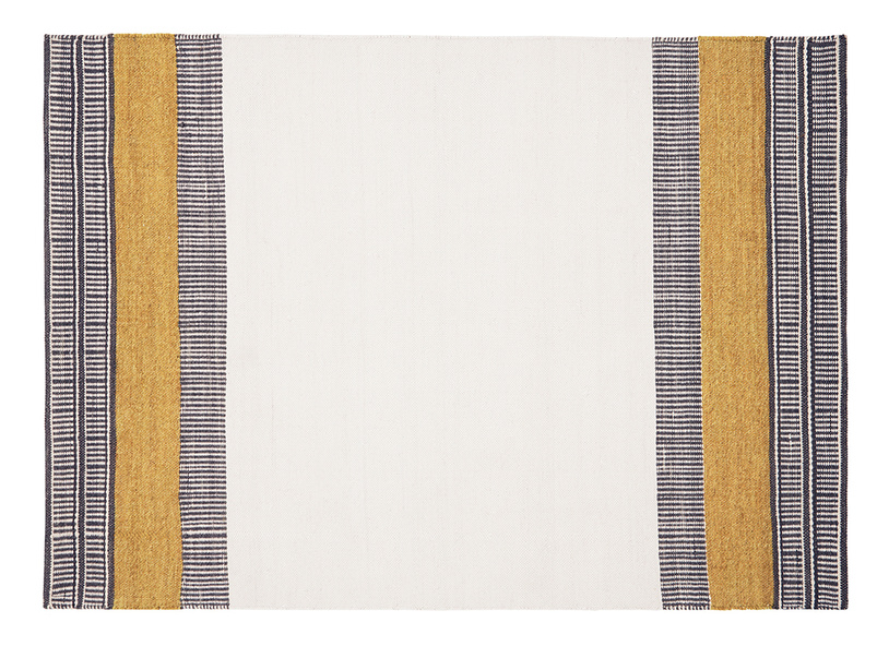 Siesta rug in Burnt Yellow