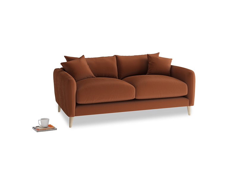 Small Squishmeister Sofa in Praline Plush Velvet
