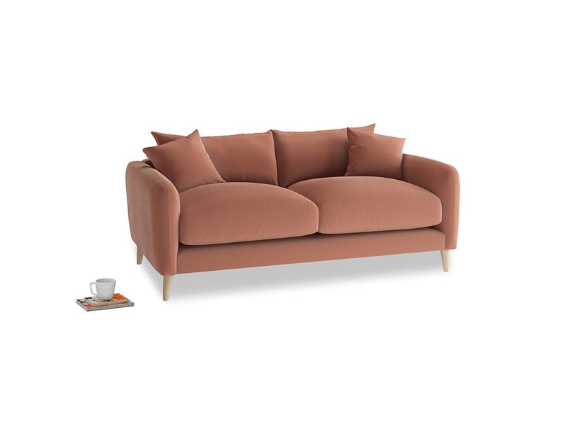 Small Squishmeister Sofa in Pinky Peanut Plush Velvet