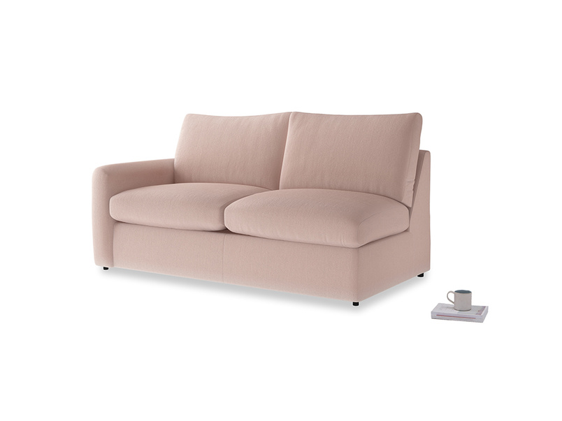 Chatnap Storage Sofa in Dried Plaster Clever Velvet with a left arm