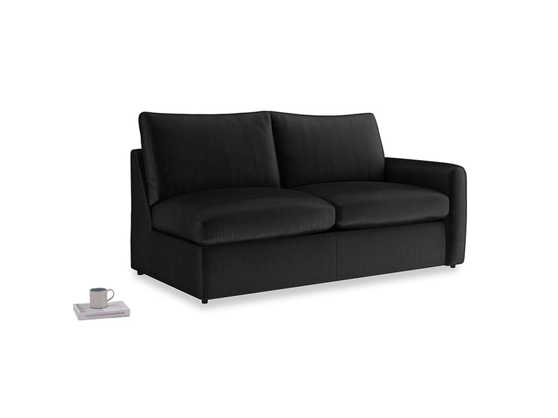 Chatnap Storage Sofa in Blackboard Vintage Velvet with a right arm