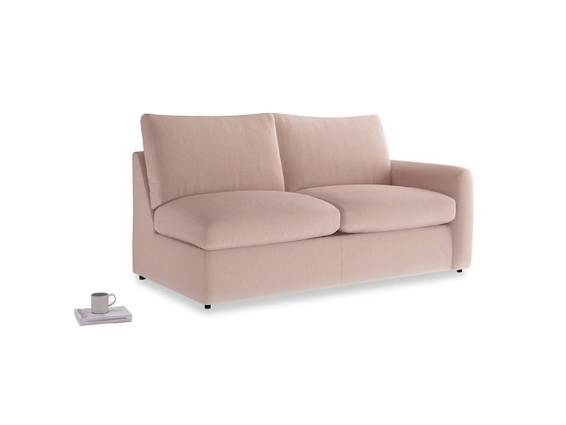 Chatnap Storage Sofa in Dried Plaster Clever Velvet with a right arm