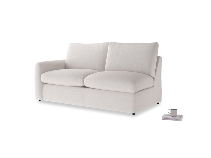 Chatnap Storage Sofa in Winter White Clever Velvet with a left arm