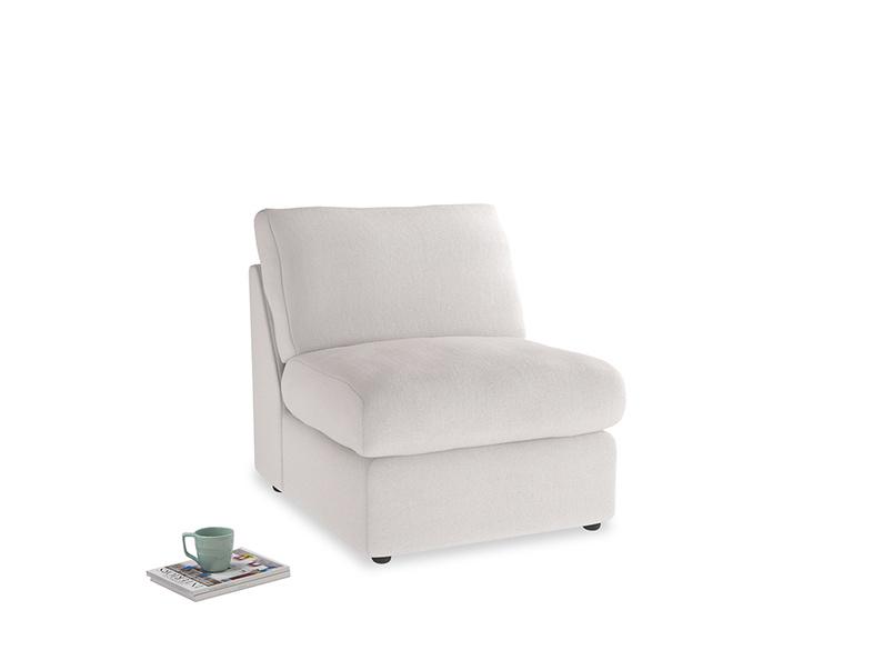 Chatnap Storage Single Seat in Winter White Clever Velvet