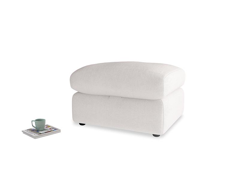 Chatnap Storage Footstool in Winter White Clever Velvet