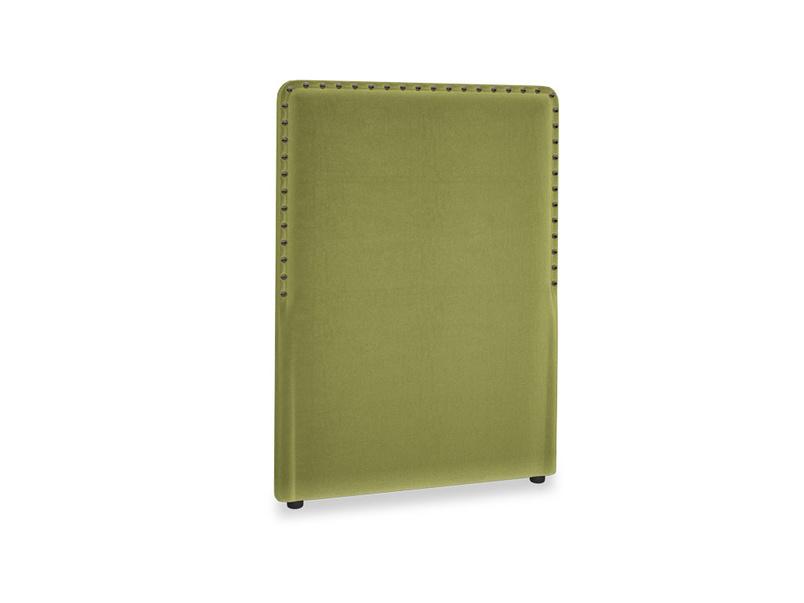 Single Smith Headboard in Light Olive Plush Velvet