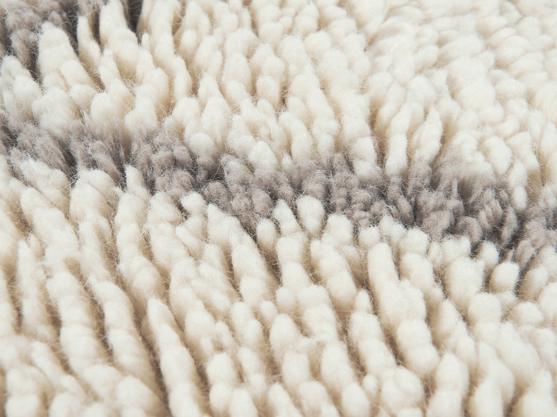 Berber fluffy rug close detail
